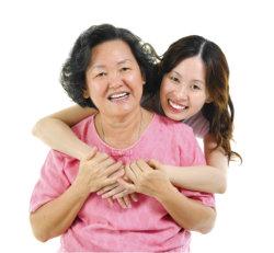 caregiver huggin patient